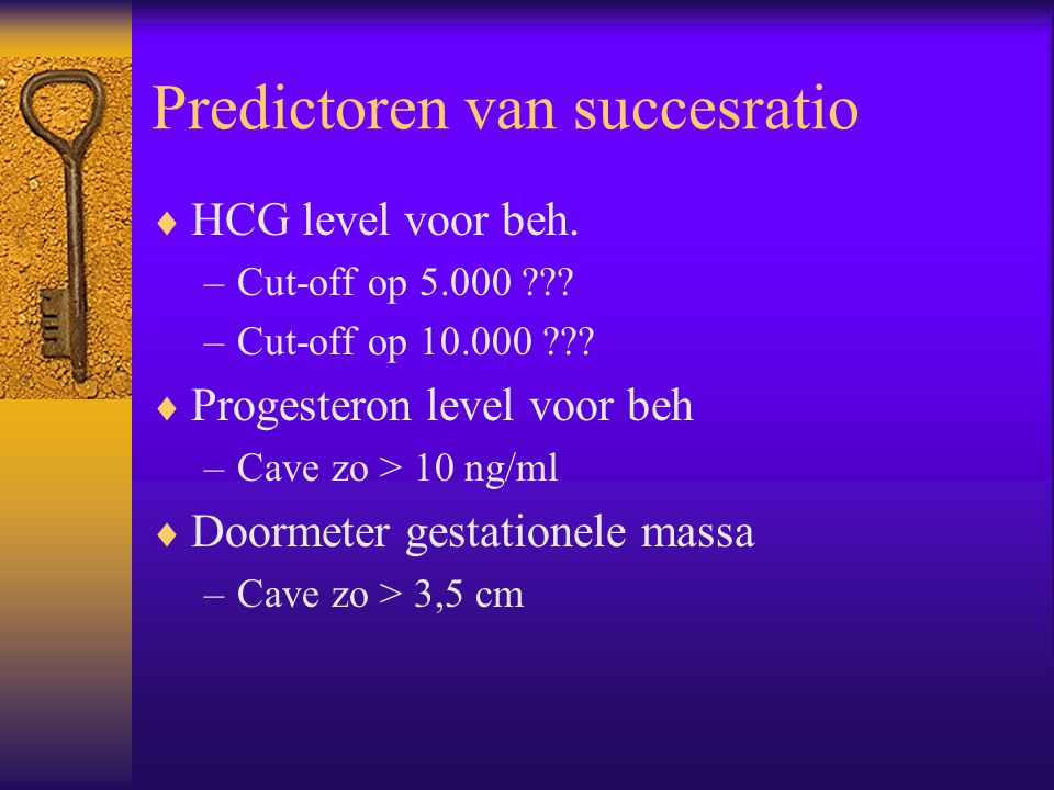 Predictoren van succesratio