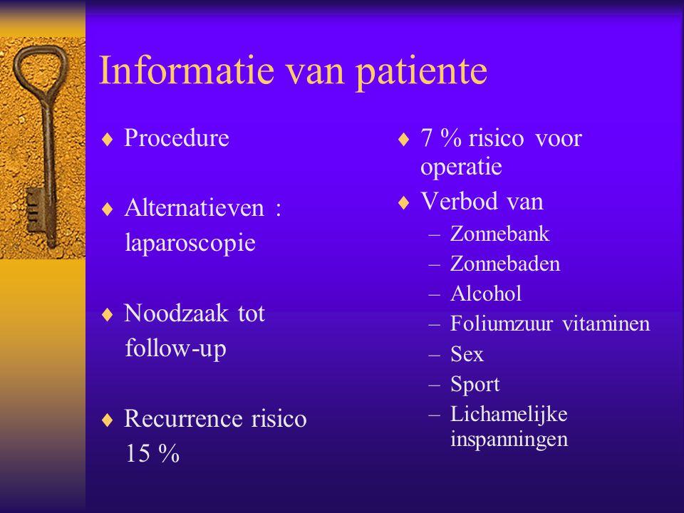 Informatie van patiente