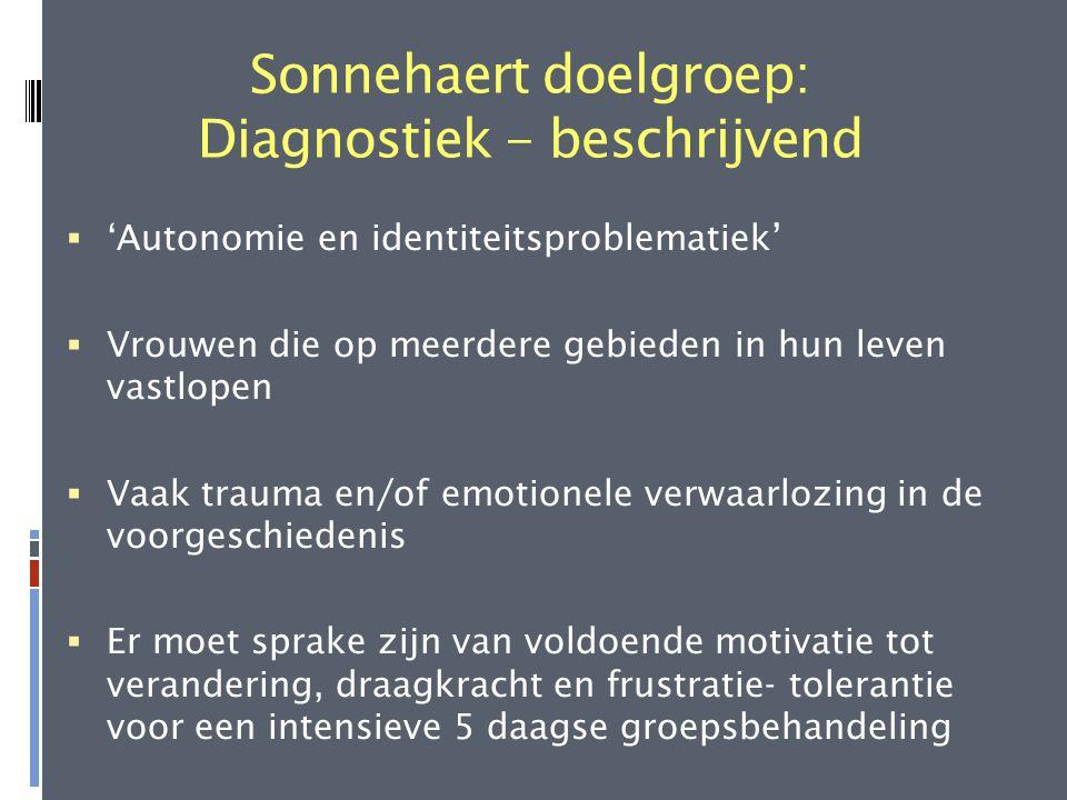Sonnehaert doelgroep: Diagnostiek - beschrijvend