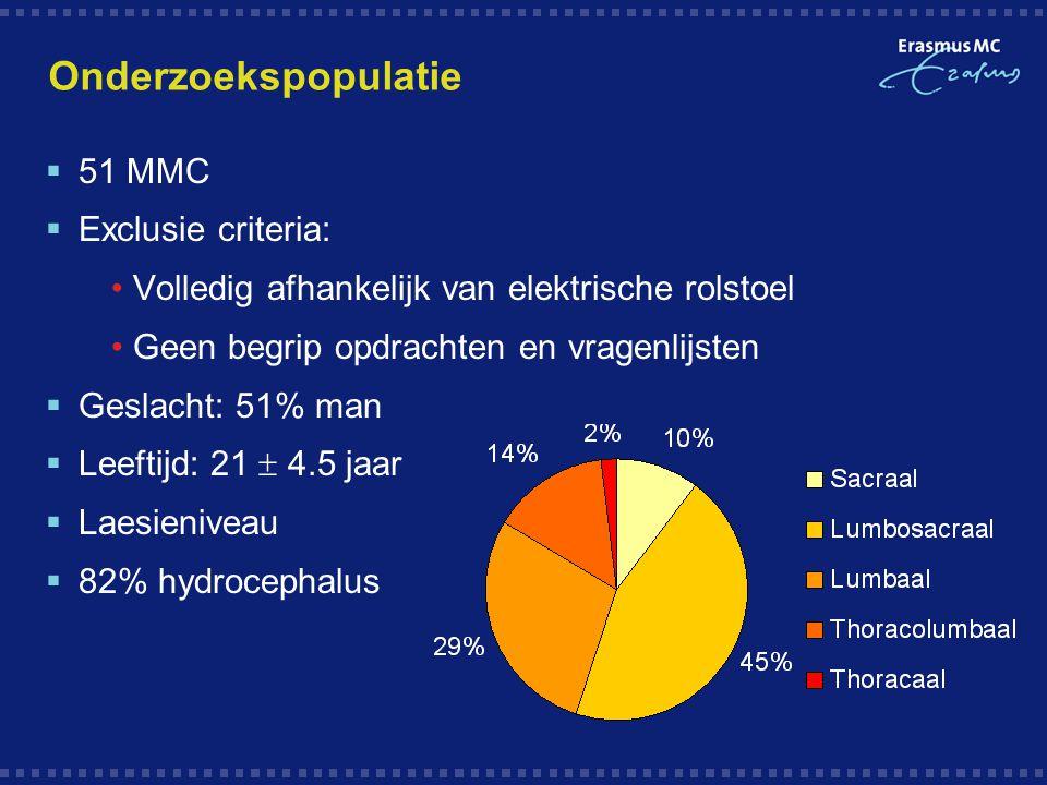 Onderzoekspopulatie 51 MMC Exclusie criteria: