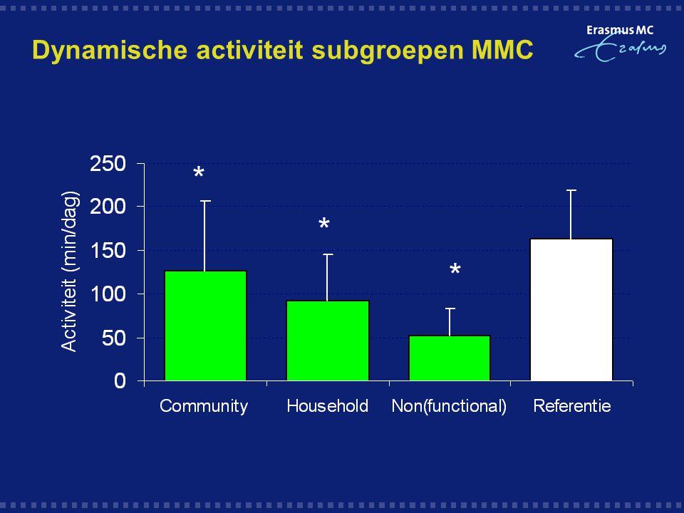 Dynamische activiteit subgroepen MMC