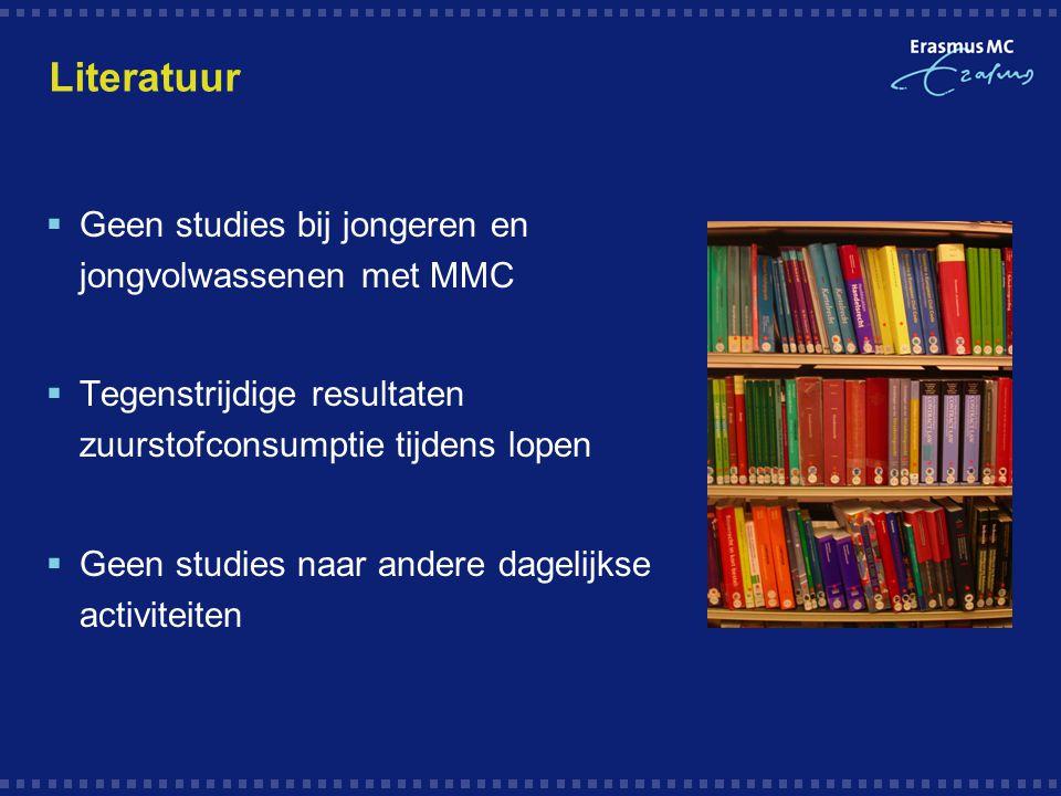 Literatuur Geen studies bij jongeren en jongvolwassenen met MMC