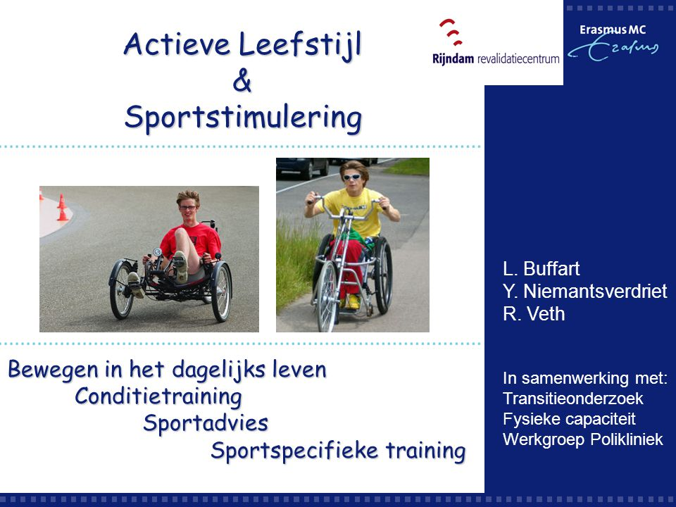 Actieve Leefstijl & Sportstimulering Bewegen in het dagelijks leven
