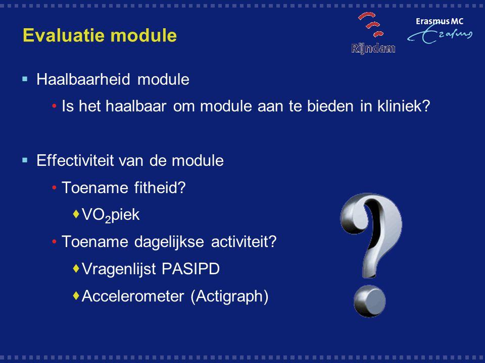Evaluatie module Haalbaarheid module