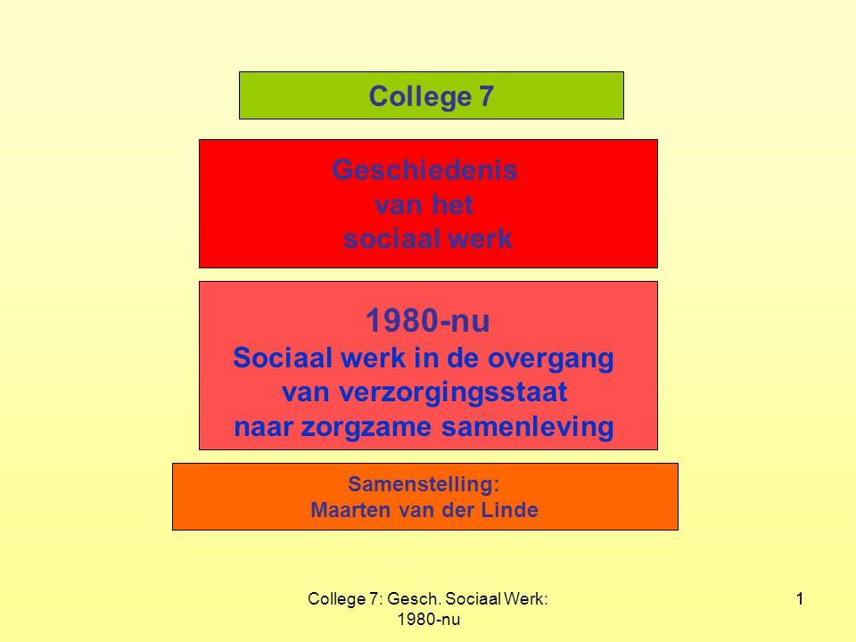 Sociaal werk in de overgang naar zorgzame samenleving