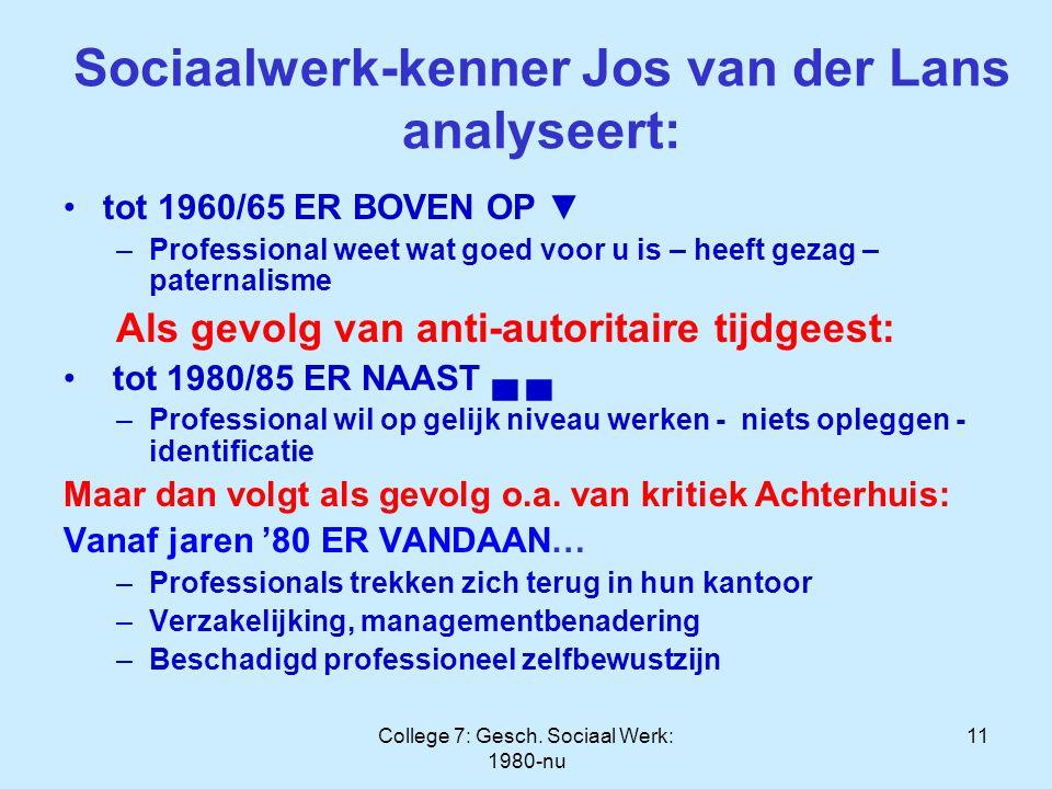 Sociaalwerk-kenner Jos van der Lans analyseert: