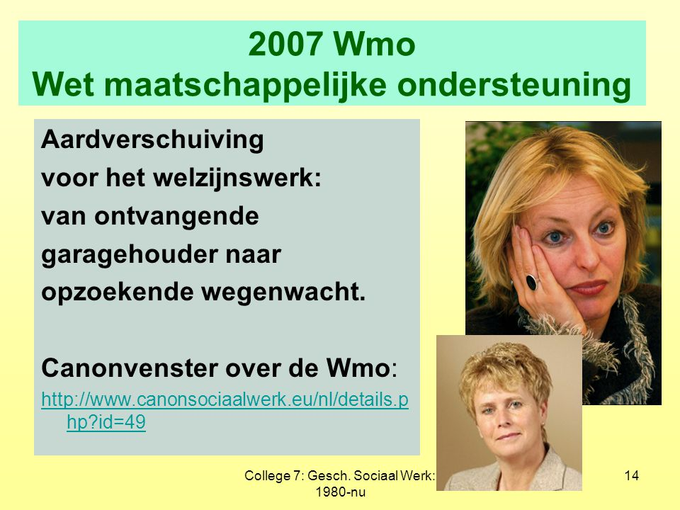2007 Wmo Wet maatschappelijke ondersteuning