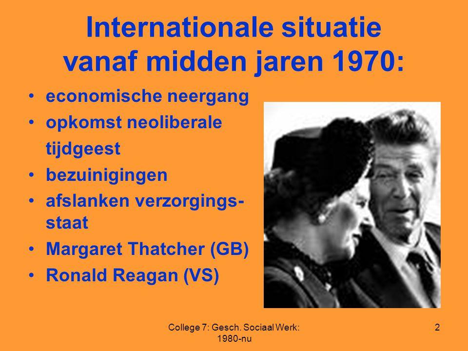 Internationale situatie vanaf midden jaren 1970: