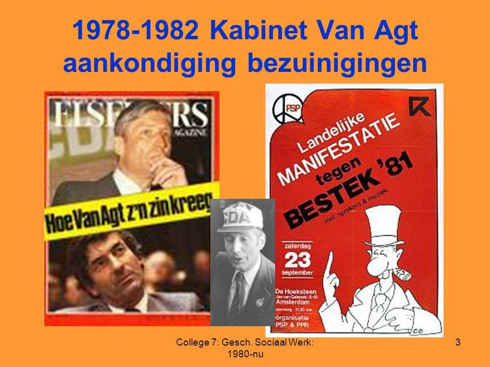 1978-1982 Kabinet Van Agt aankondiging bezuinigingen