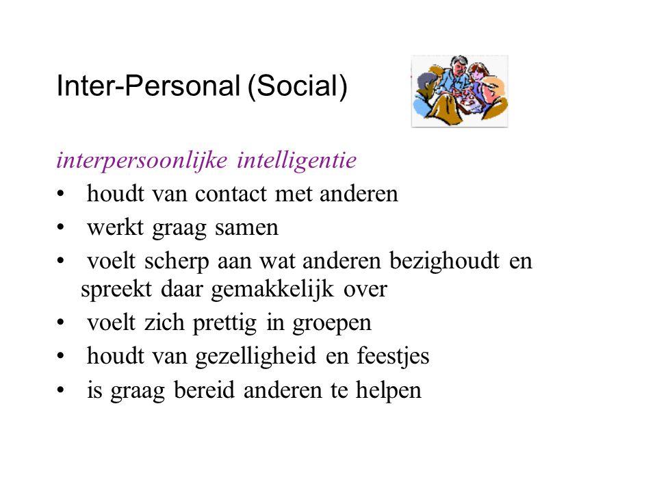 Inter-Personal (Social)