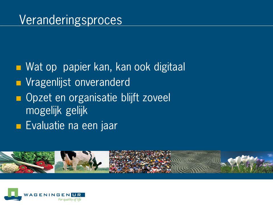 Veranderingsproces Wat op papier kan, kan ook digitaal