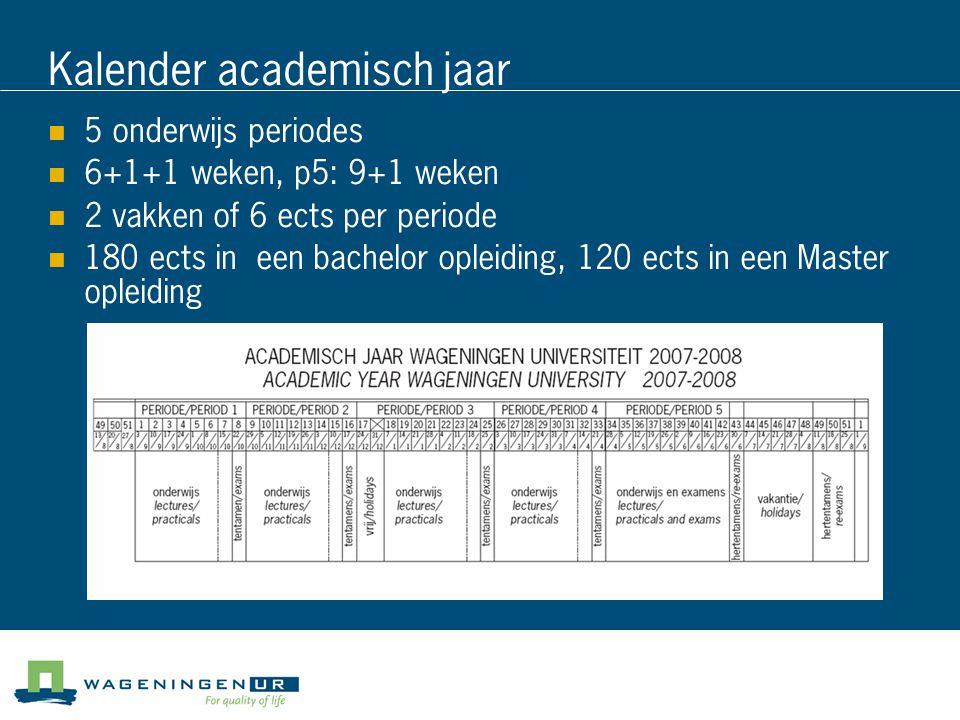 Kalender academisch jaar