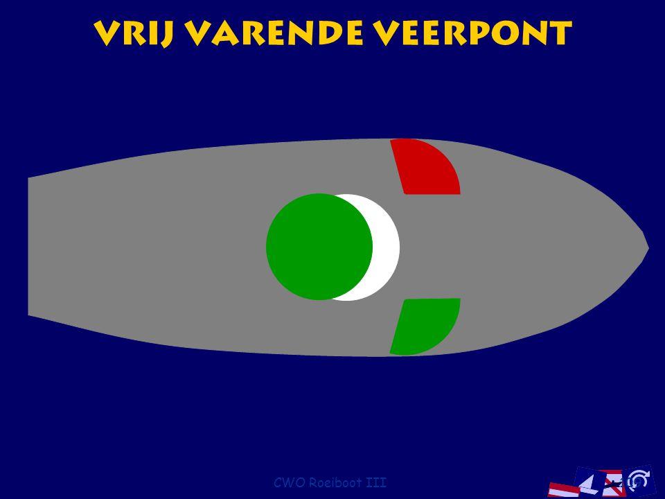 Vrij varende Veerpont CWO Roeiboot III
