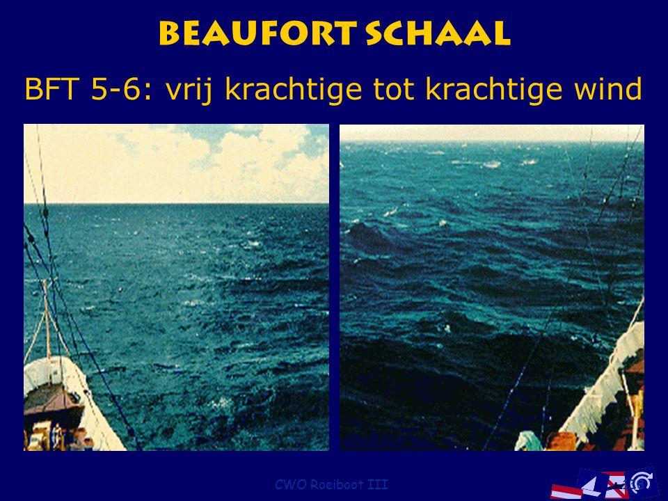 Beaufort Schaal BFT 5-6: vrij krachtige tot krachtige wind