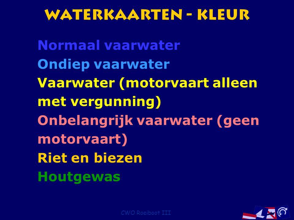 Waterkaarten - Kleur Normaal vaarwater Ondiep vaarwater