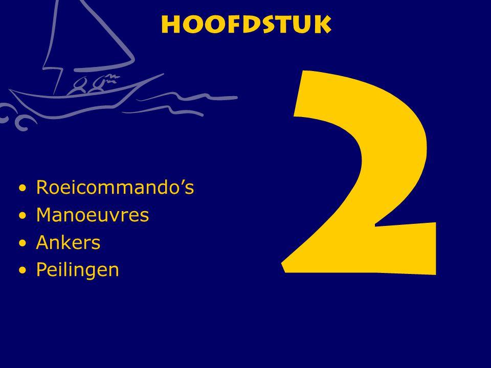 2 Hoofdstuk Roeicommando's Manoeuvres Ankers Peilingen