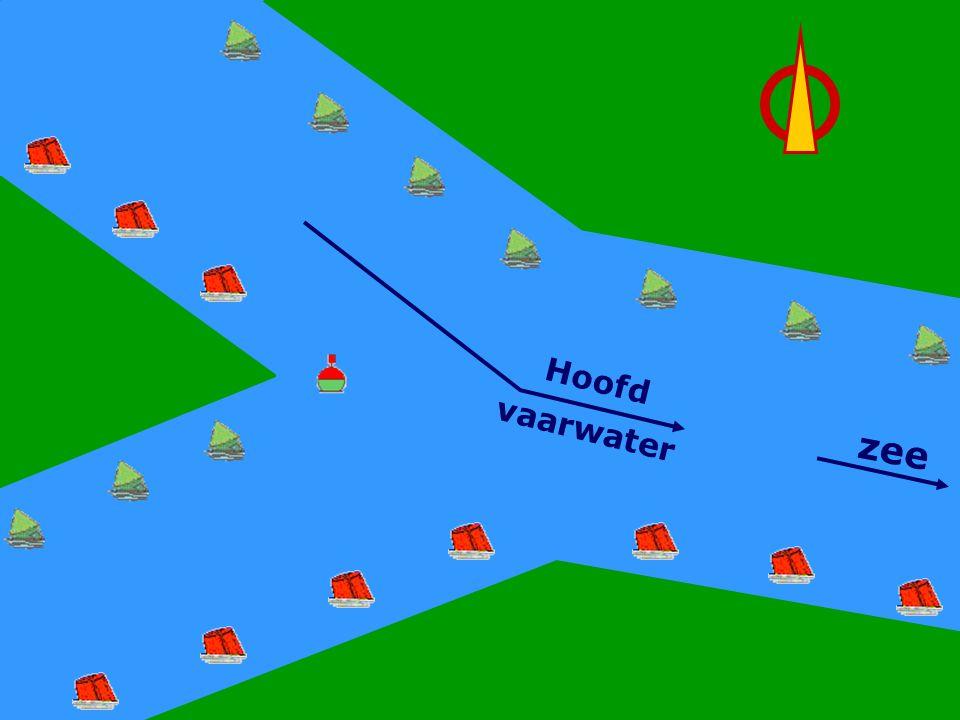 Hoofdwater Rechts zee Hoofd vaarwater CWO Roeiboot III