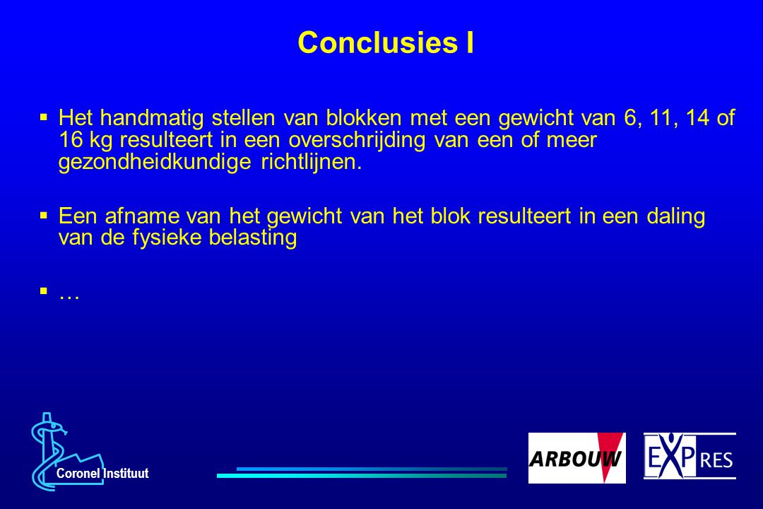 Conclusies I