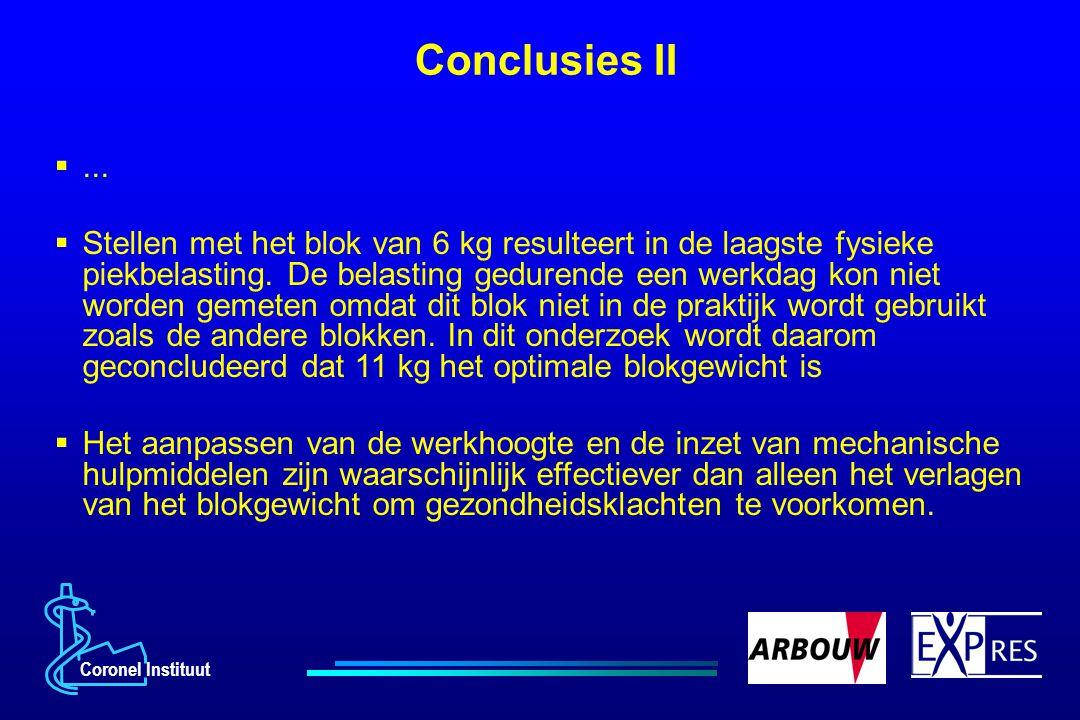 Conclusies II ...