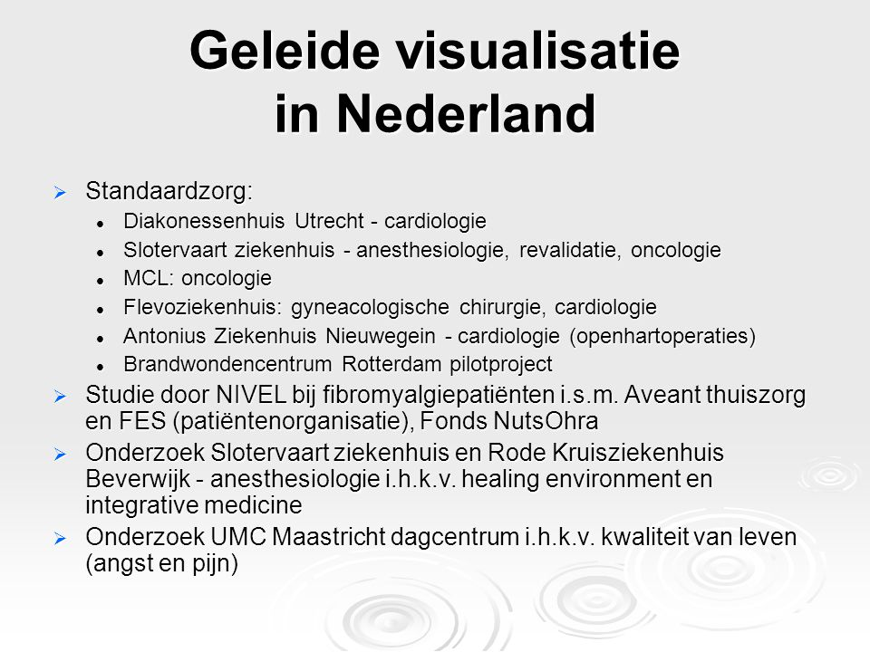 Geleide visualisatie in Nederland