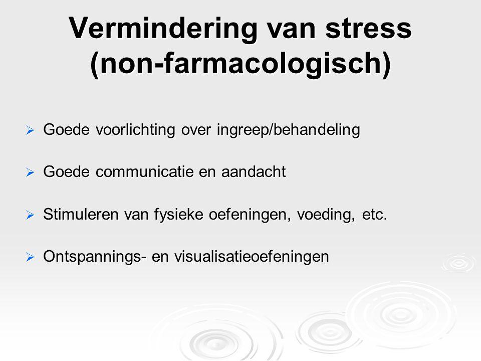 Vermindering van stress (non-farmacologisch)