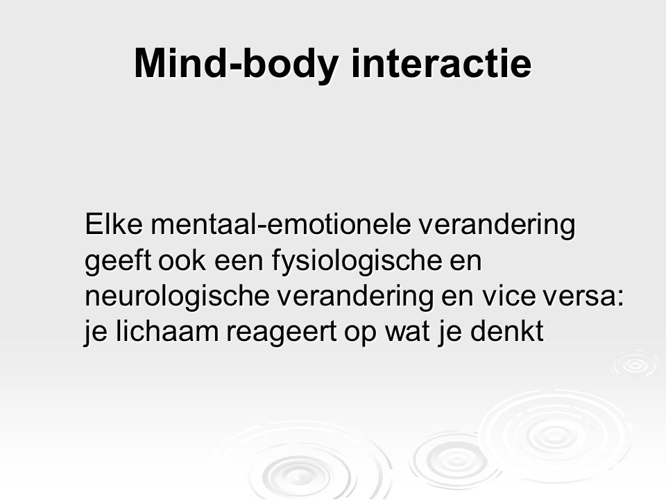 Mind-body interactie