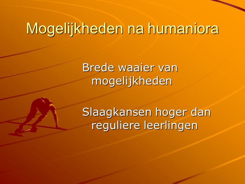 Mogelijkheden na humaniora