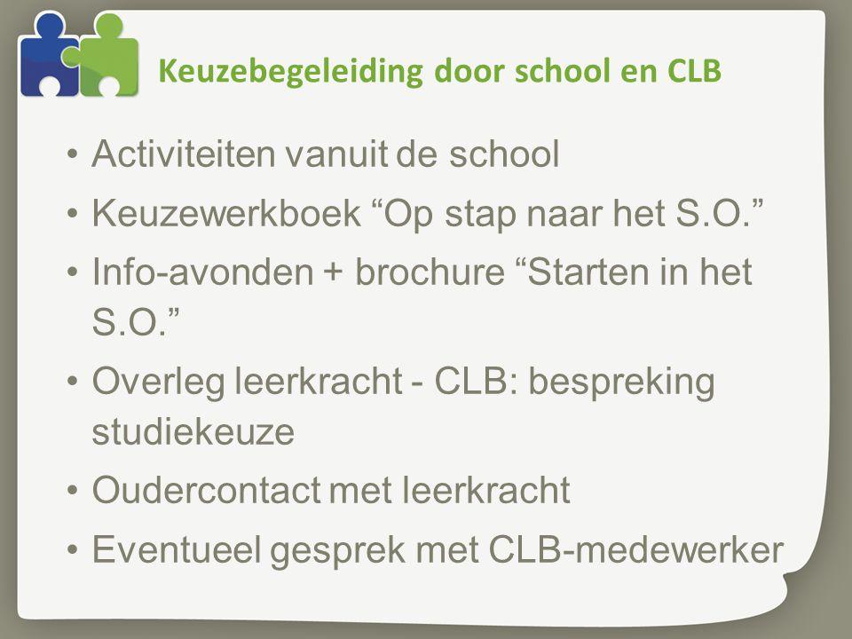 Keuzebegeleiding door school en CLB