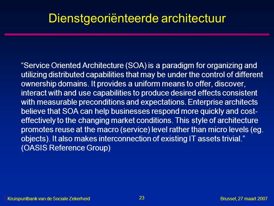 Dienstgeoriënteerde architectuur