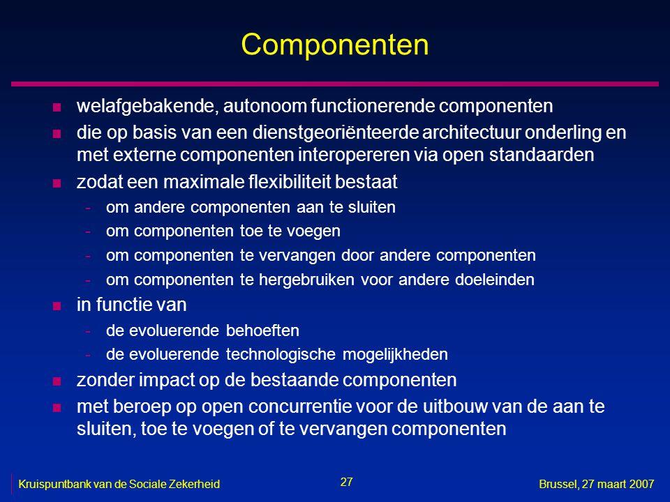 Componenten welafgebakende, autonoom functionerende componenten