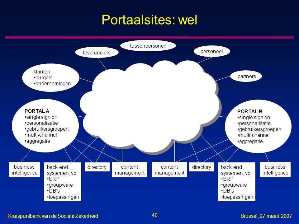 Portaalsites: wel tussenpersonen leveranciers personeel klanten