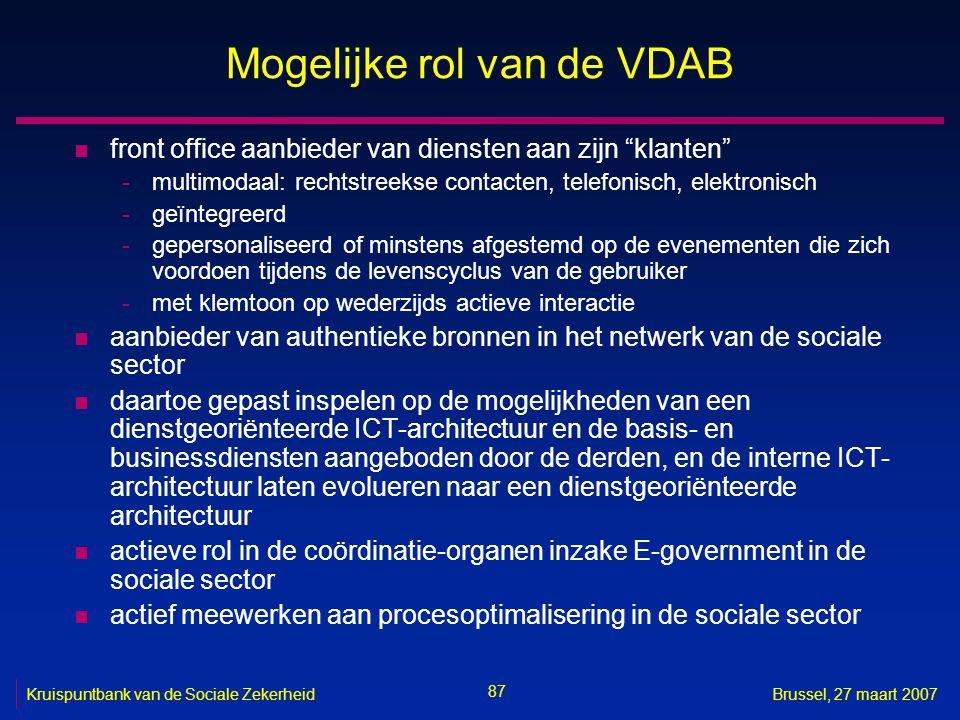 Mogelijke rol van de VDAB