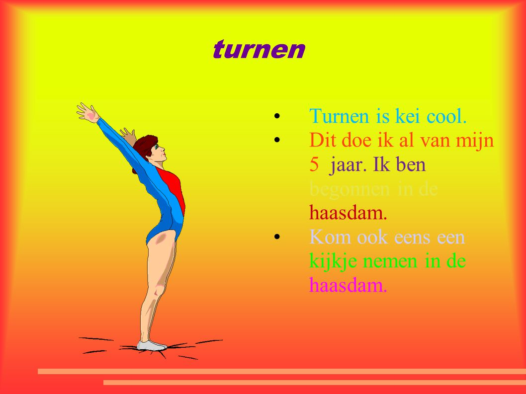 turnen Turnen is kei cool.