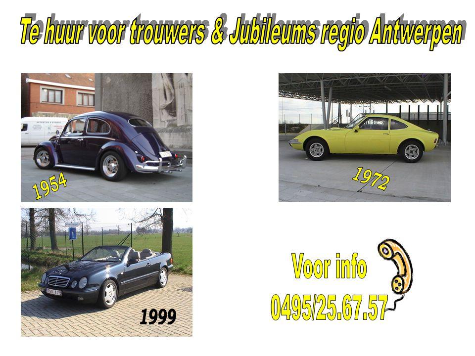 Te huur voor trouwers & Jubileums regio Antwerpen