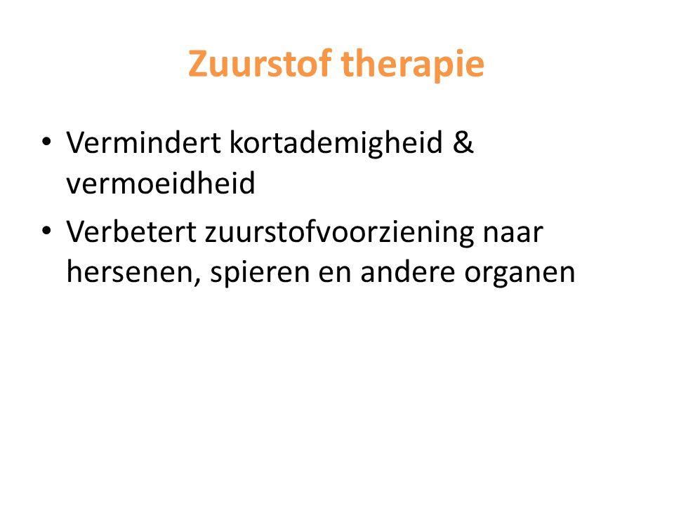 Zuurstof therapie Vermindert kortademigheid & vermoeidheid