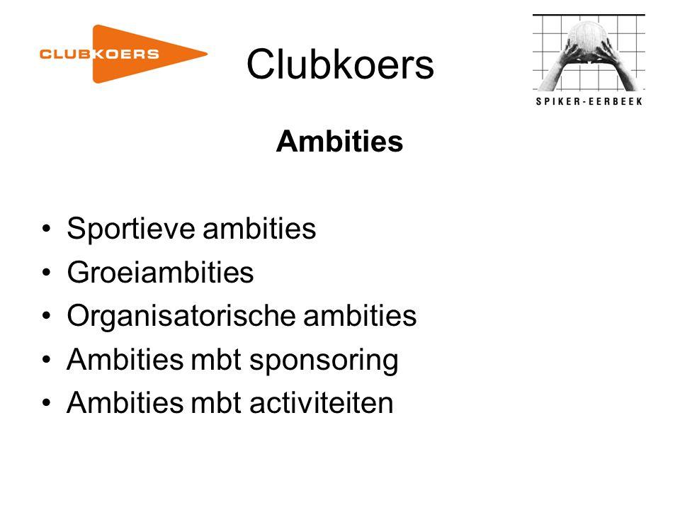 Clubkoers Ambities Sportieve ambities Groeiambities