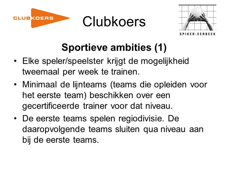 Clubkoers Sportieve ambities (1)