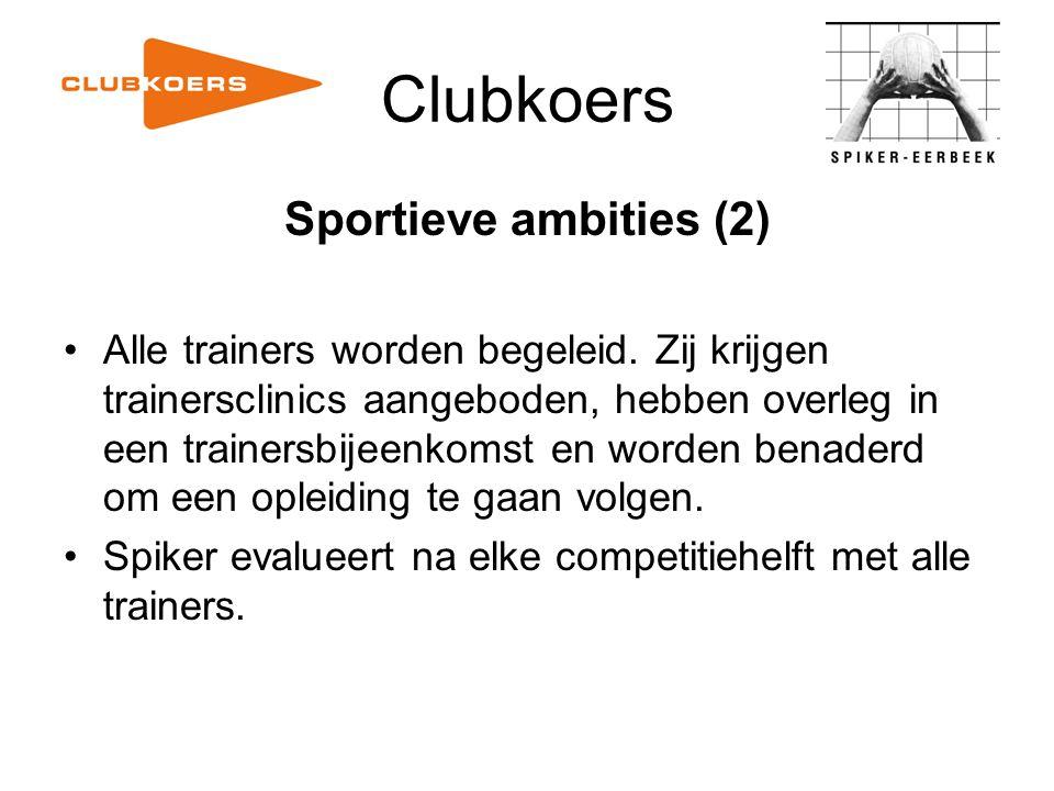 Clubkoers Sportieve ambities (2)