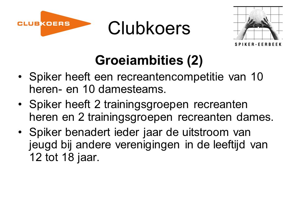 Clubkoers Groeiambities (2)