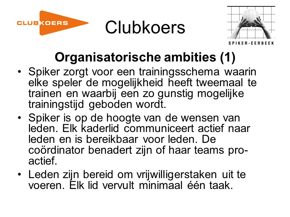 Organisatorische ambities (1)