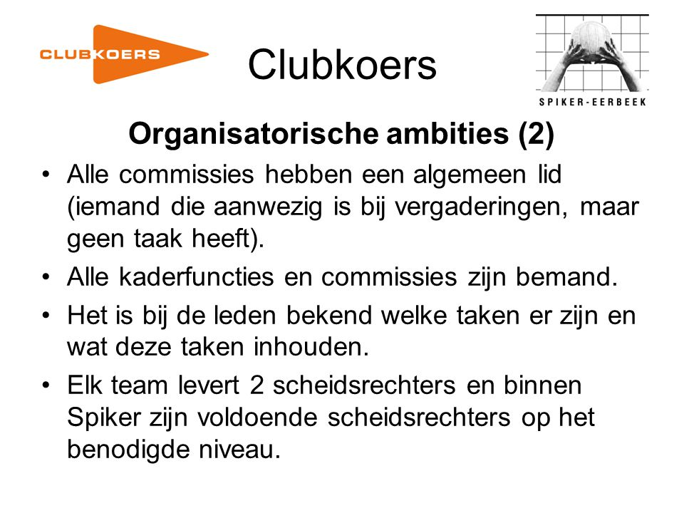 Organisatorische ambities (2)