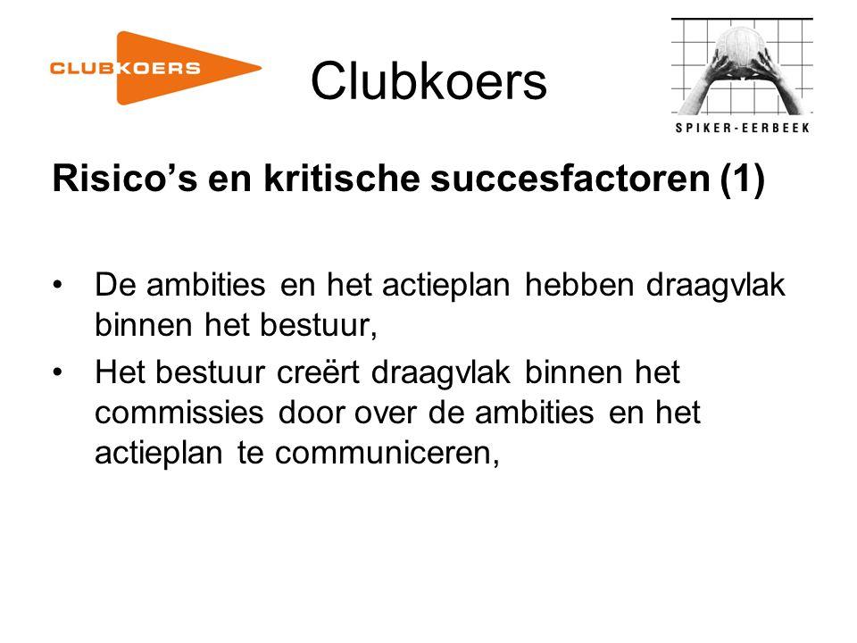 Clubkoers Risico's en kritische succesfactoren (1)