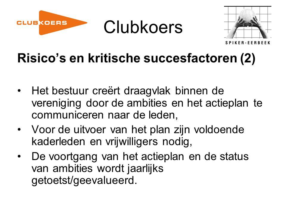 Clubkoers Risico's en kritische succesfactoren (2)