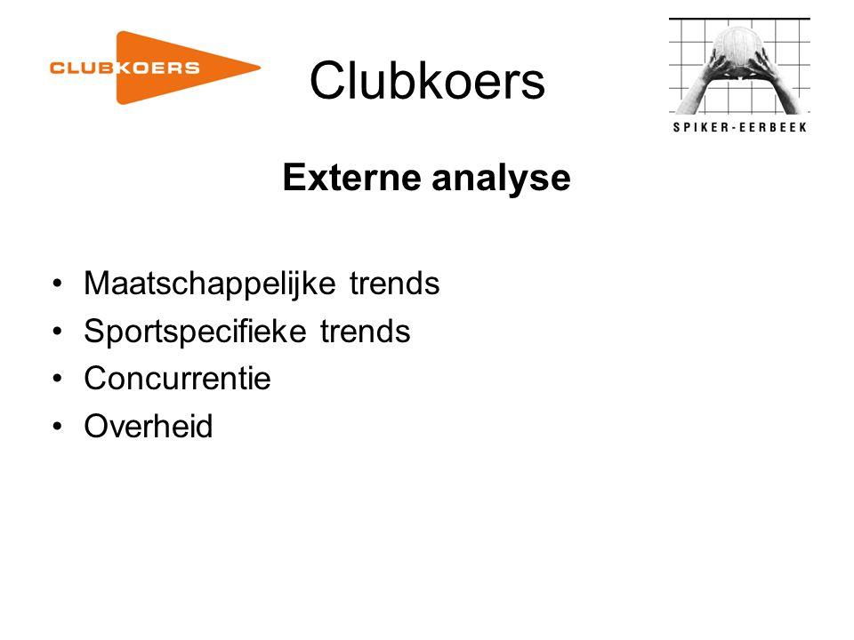 Clubkoers Externe analyse Maatschappelijke trends