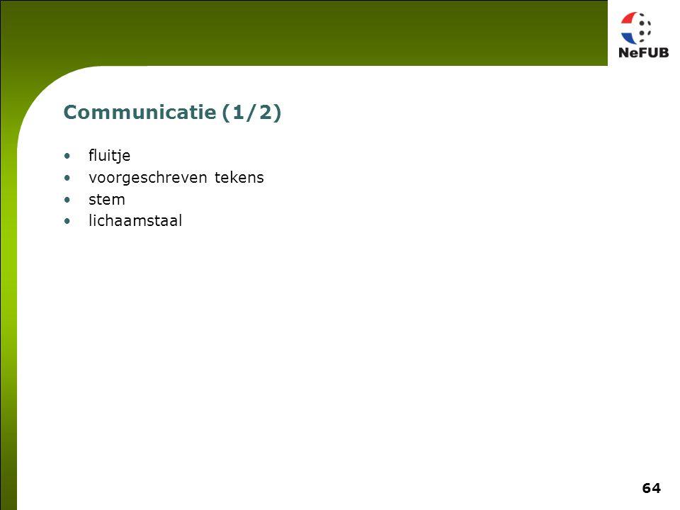 Communicatie (2/2) Varieer de sterkte van je fluitsignaal en tekens
