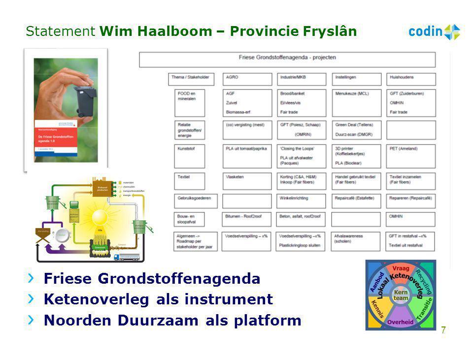 Statement Wim Haalboom – Provincie Fryslân