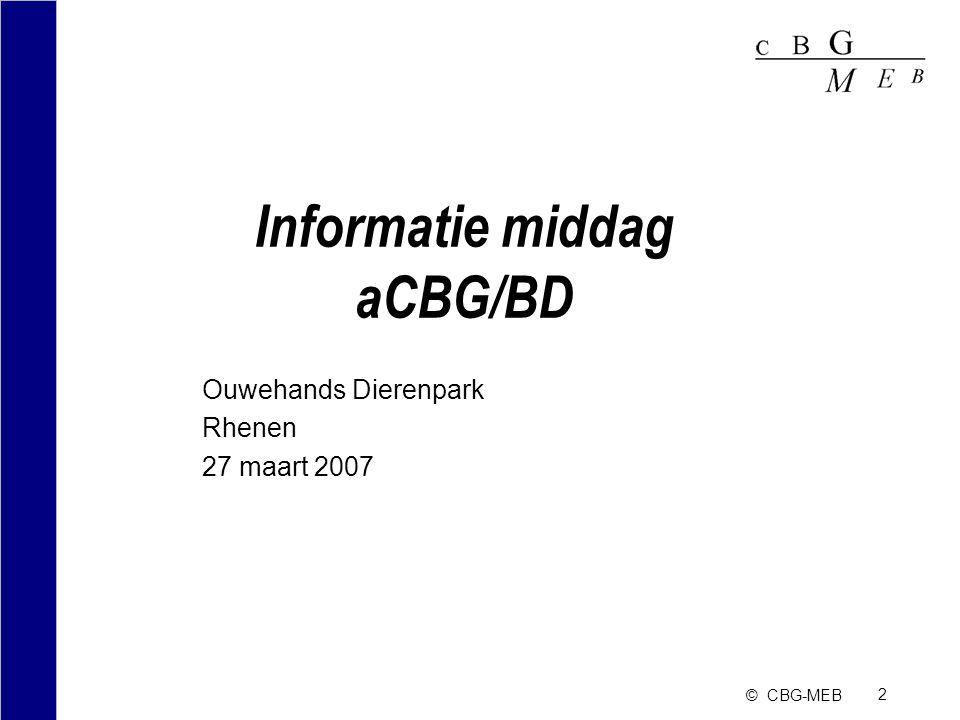 Informatie middag aCBG/BD