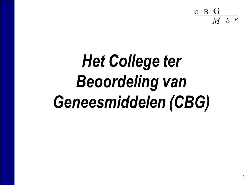 Het College ter Beoordeling van Geneesmiddelen (CBG)