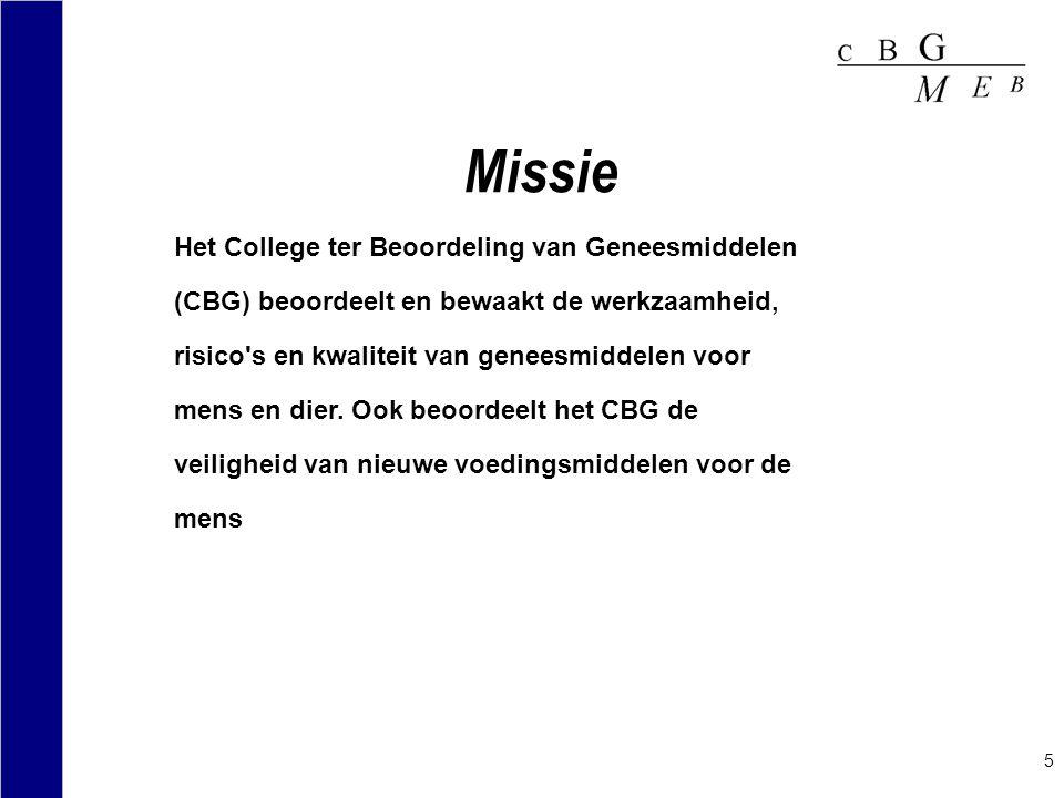 Missie Het College ter Beoordeling van Geneesmiddelen