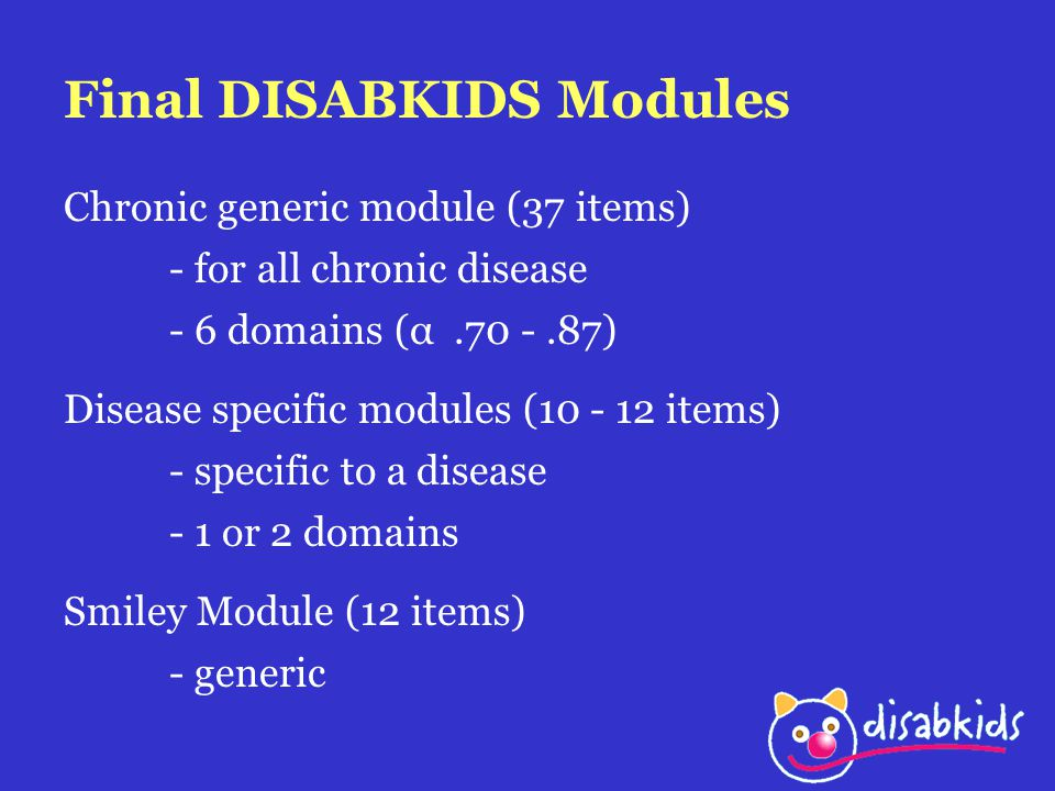 Final DISABKIDS Modules